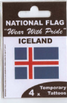Iceland Country Flag Tattoos.